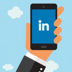 LinkedIn logo op telefoon animatie Flex Online Marketing