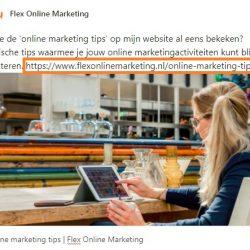 URL verwijderen social media bericht Flex Online Marketing