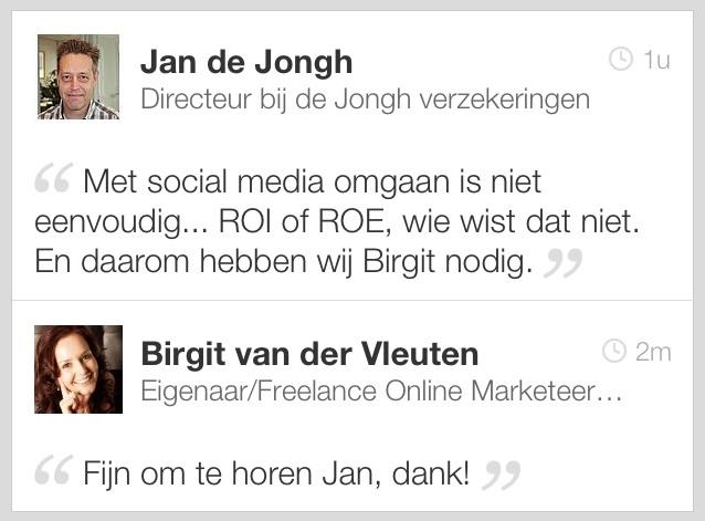 LinkedIn reactie Jan de Jongh